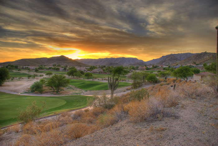 """""""Foothills Golf Course Sunset"""" by neepster is liccensed under CC BY 2.0"""