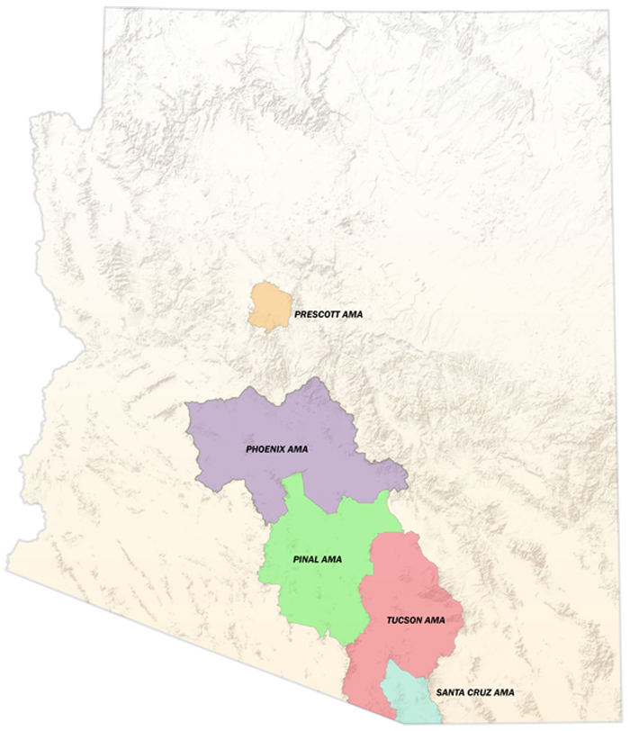 Arizona Active Management Areas Map