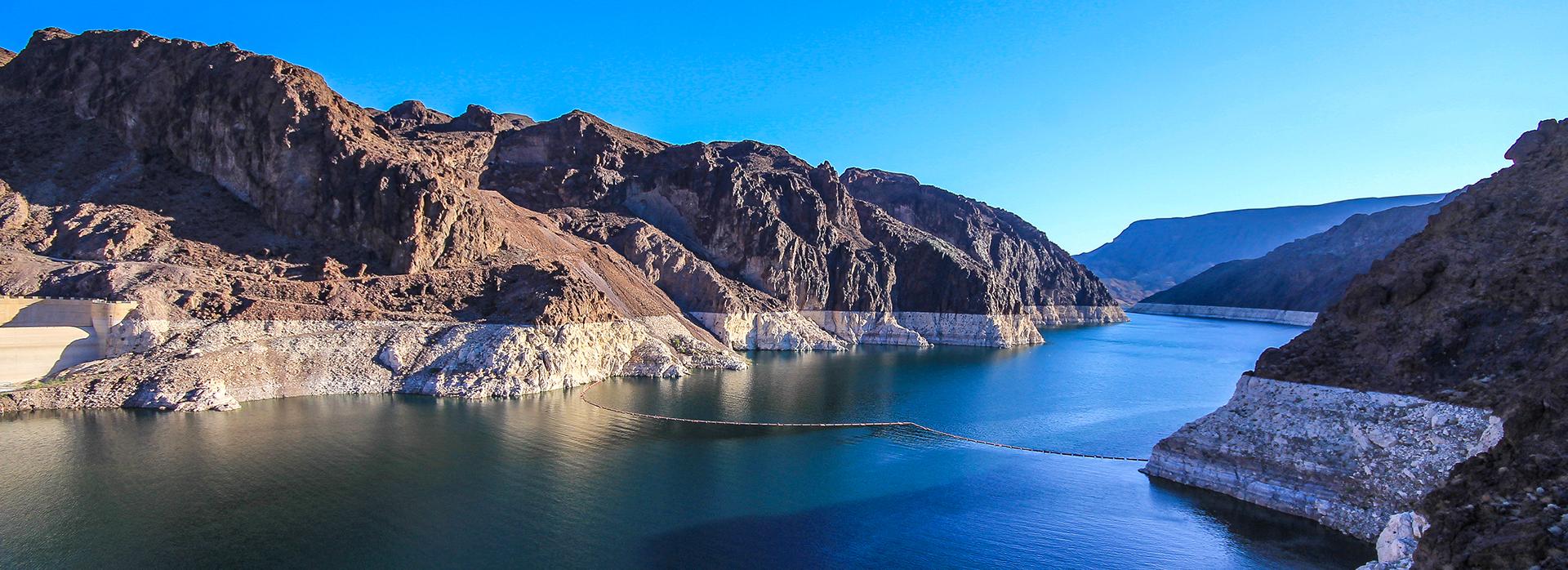 Colorado River Lake Mead close to Hoover Dam