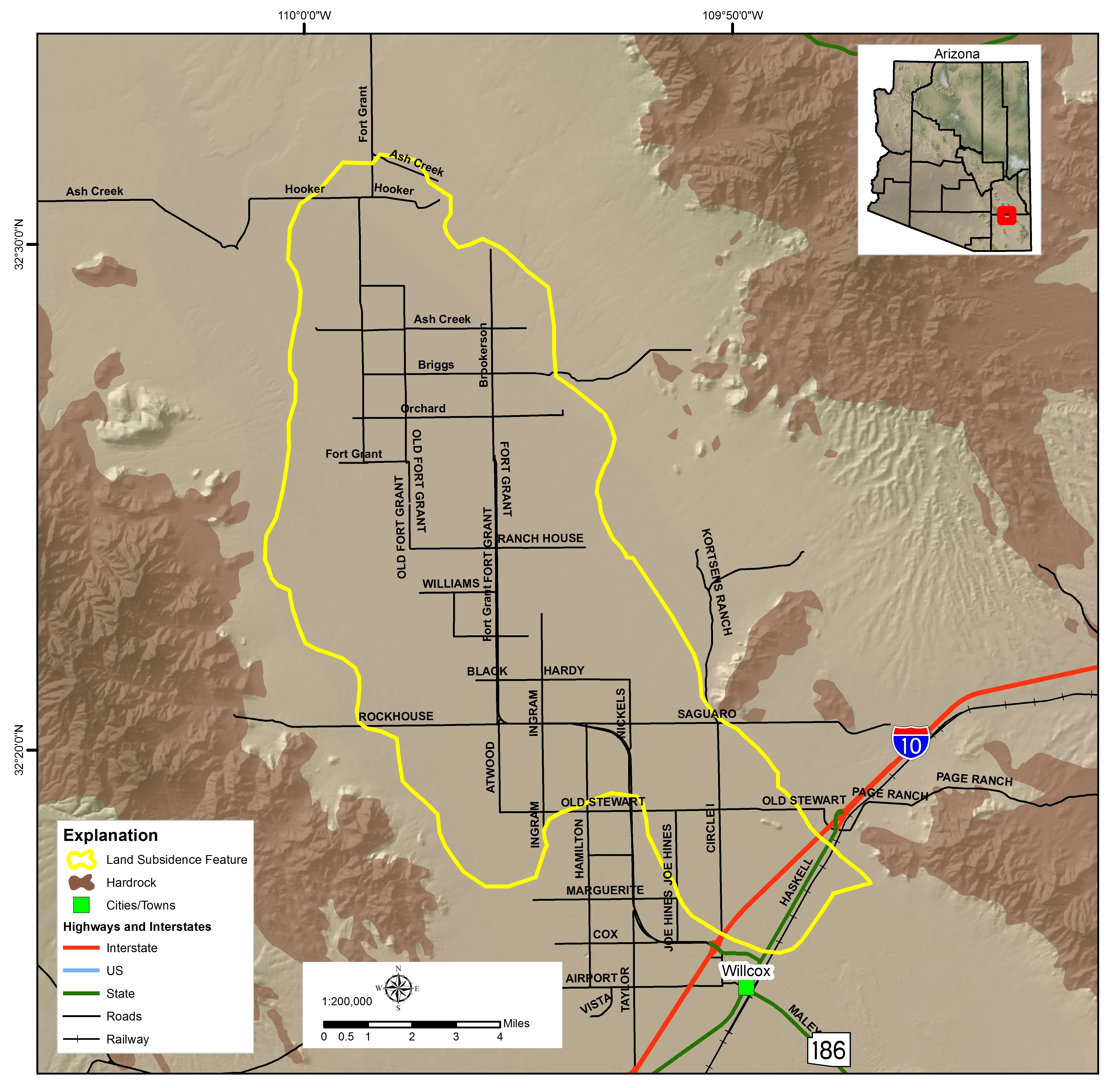 Fort Grant Road Land Subsidence