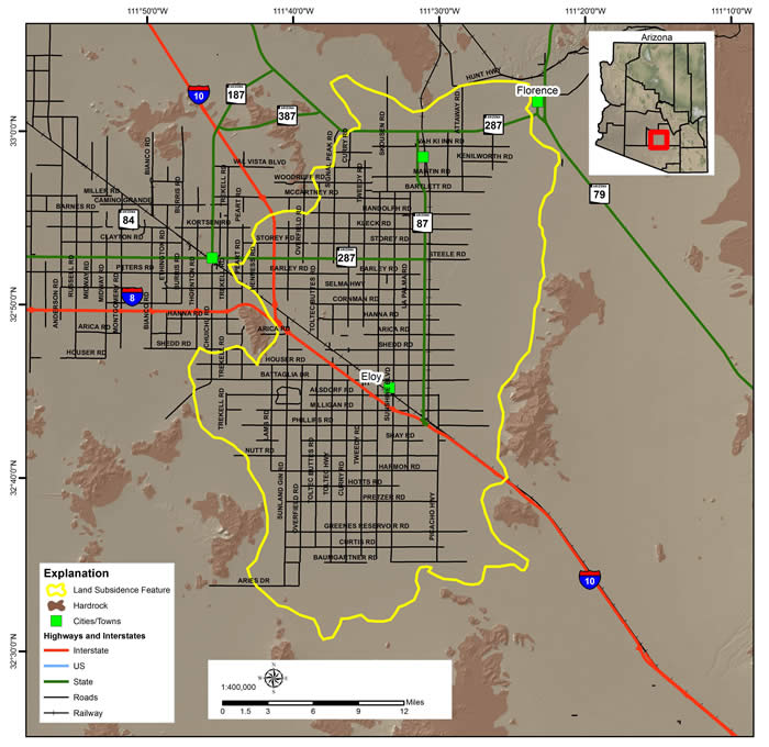 Picacho-Eloy Land Subsidence