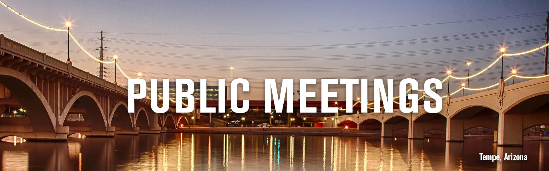 Public Meetings banner