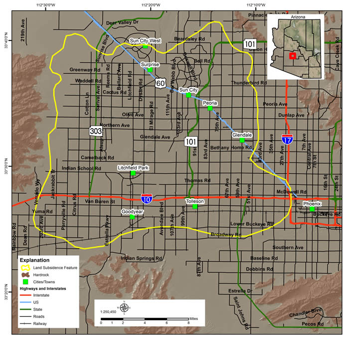 West Valley land subsidence