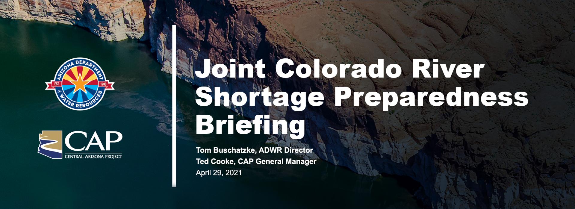 Colorado River Briefing