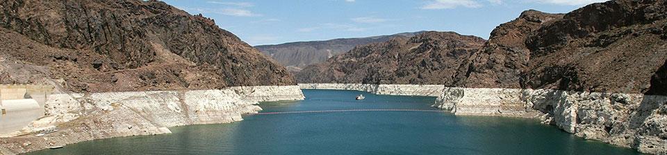 Colorado River falling levels