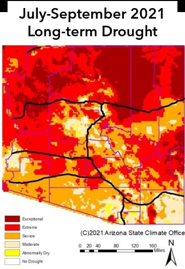 July-September 2021 Long-term Drought Map