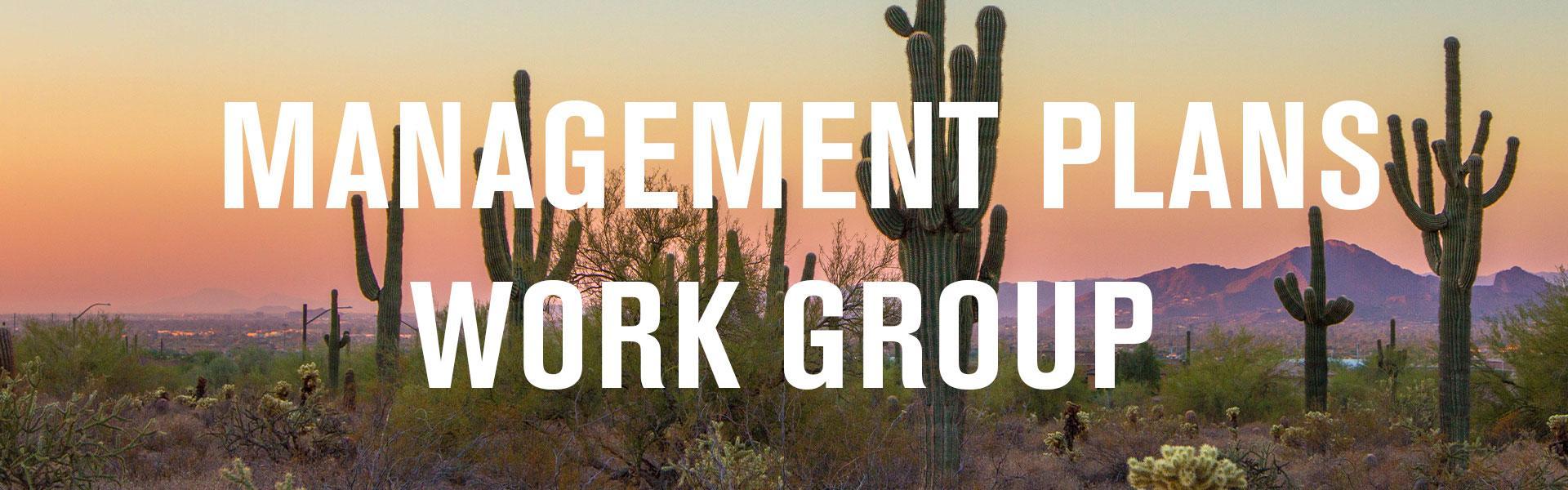 Management Plans Work Group banner