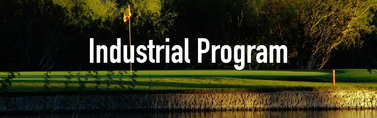 Industrial Program Banner - Golf course at a hole with the flag